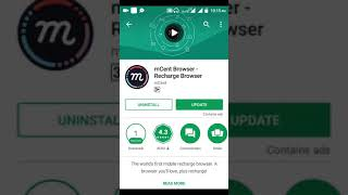 mCent Browser App unlimited free Recharge earn Hindi video