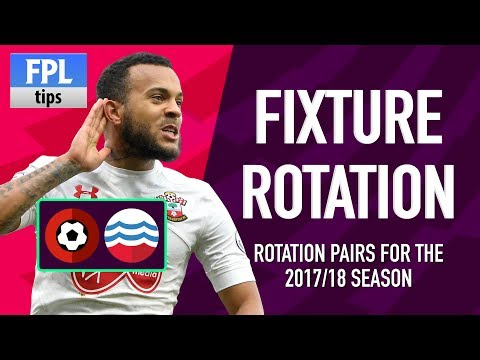 FIXTURE ROTATION PAIRS | Pre-season 2017/18 | Fantasy Premier League