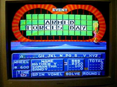 Nes wheel of fortune game 1 youtube