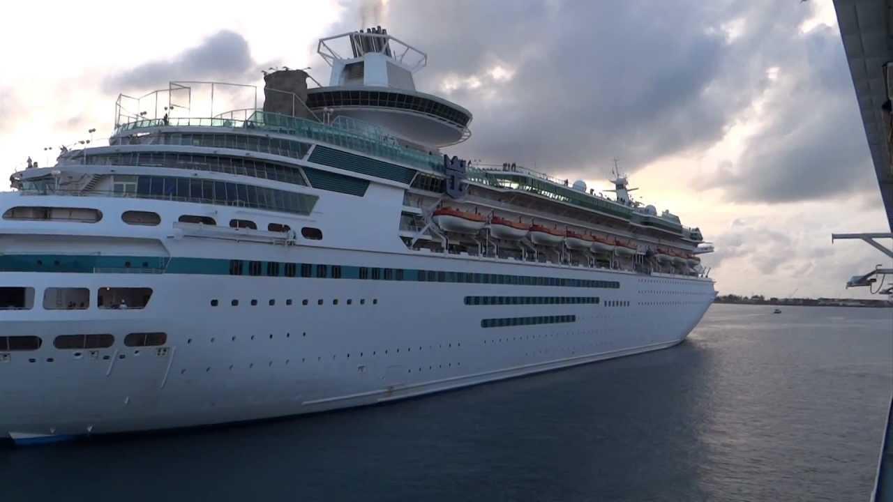 nassau the bahamas   majesty of the seas departure hd