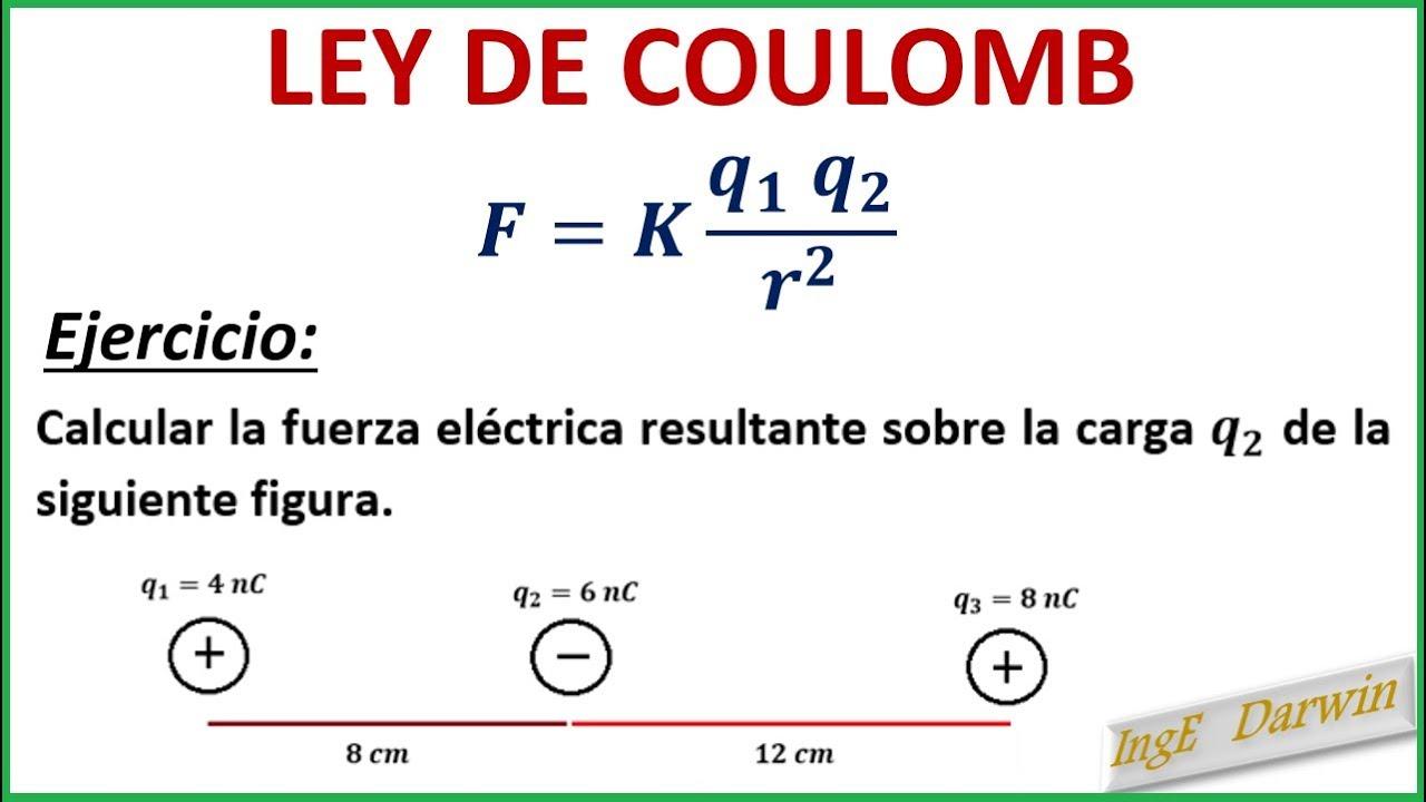 Download LEY DE COULOMB / EJERCICIO 1 Y 2