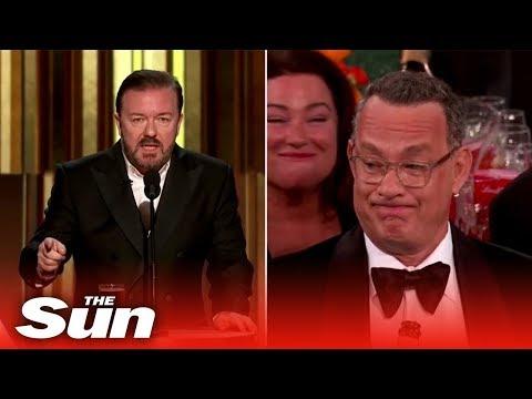 Ricky Gervais' funniest jokes at Golden Globes