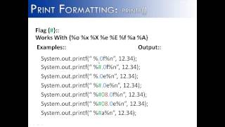 Print Formatting: printf() Flag # Part 11 (Java)