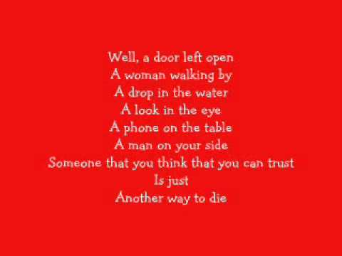 Alicia Keys and Jack White -  Another Way To Die [Lyrics]