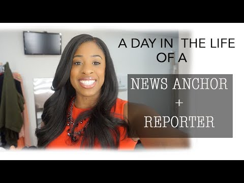 DREAM JOB! Come to work with me!| NEWS ANCHOR / REPORTER|  HAIR MAKEUP GRWM VLOG