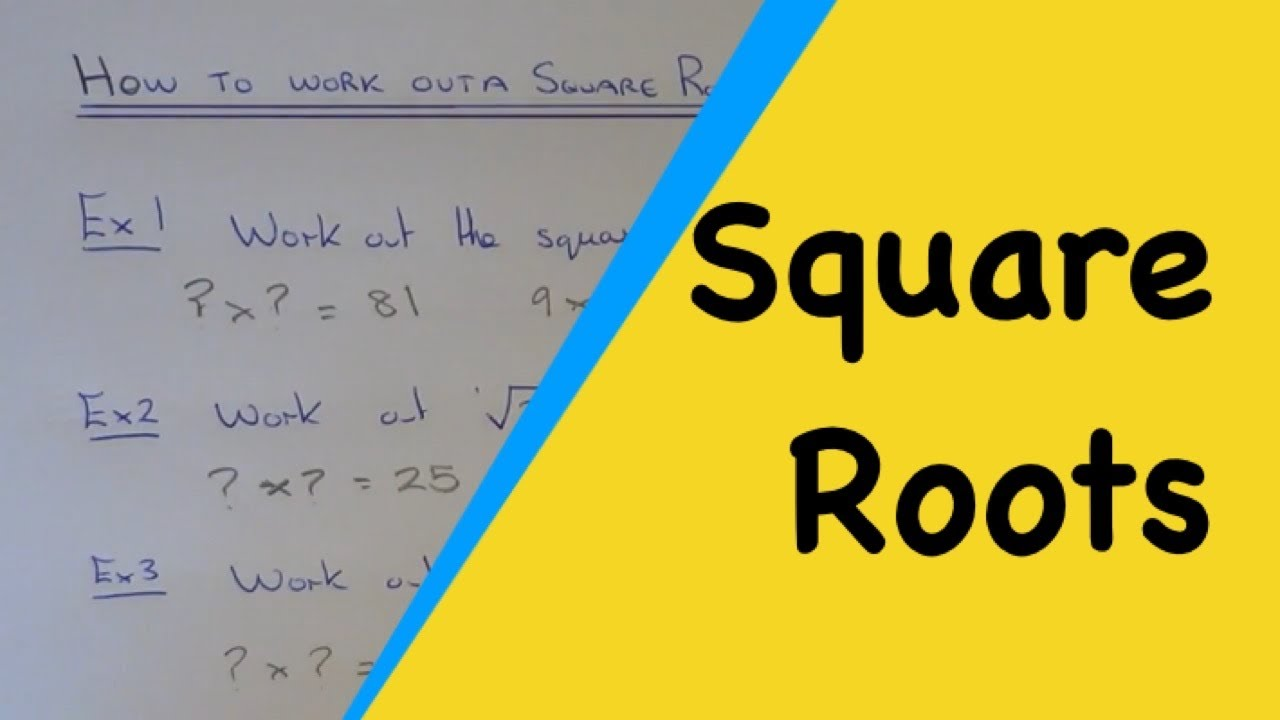 Square Roots, How To Work Out The Square Root Of Any ...