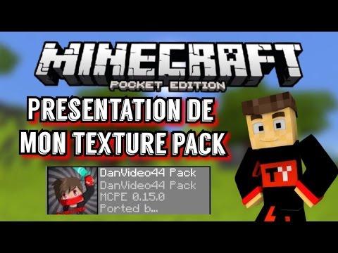 PRÉSENTATION DE MON PACK DE TEXTURE 0.15 - MINECRAFT POCKET ÉDITION FR-HD-MCPE - YouTube
