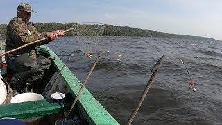 Ловля леща с лодки на бортовые удочки видео