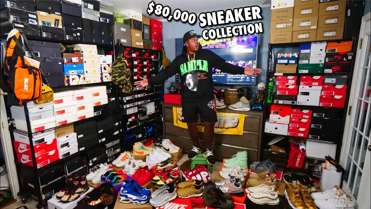 Download MY ENTIRE $80,000 SNEAKER COLLECTION!!! & $1000 GIVEAWAY! 373 PAIRS IN TOTAL!