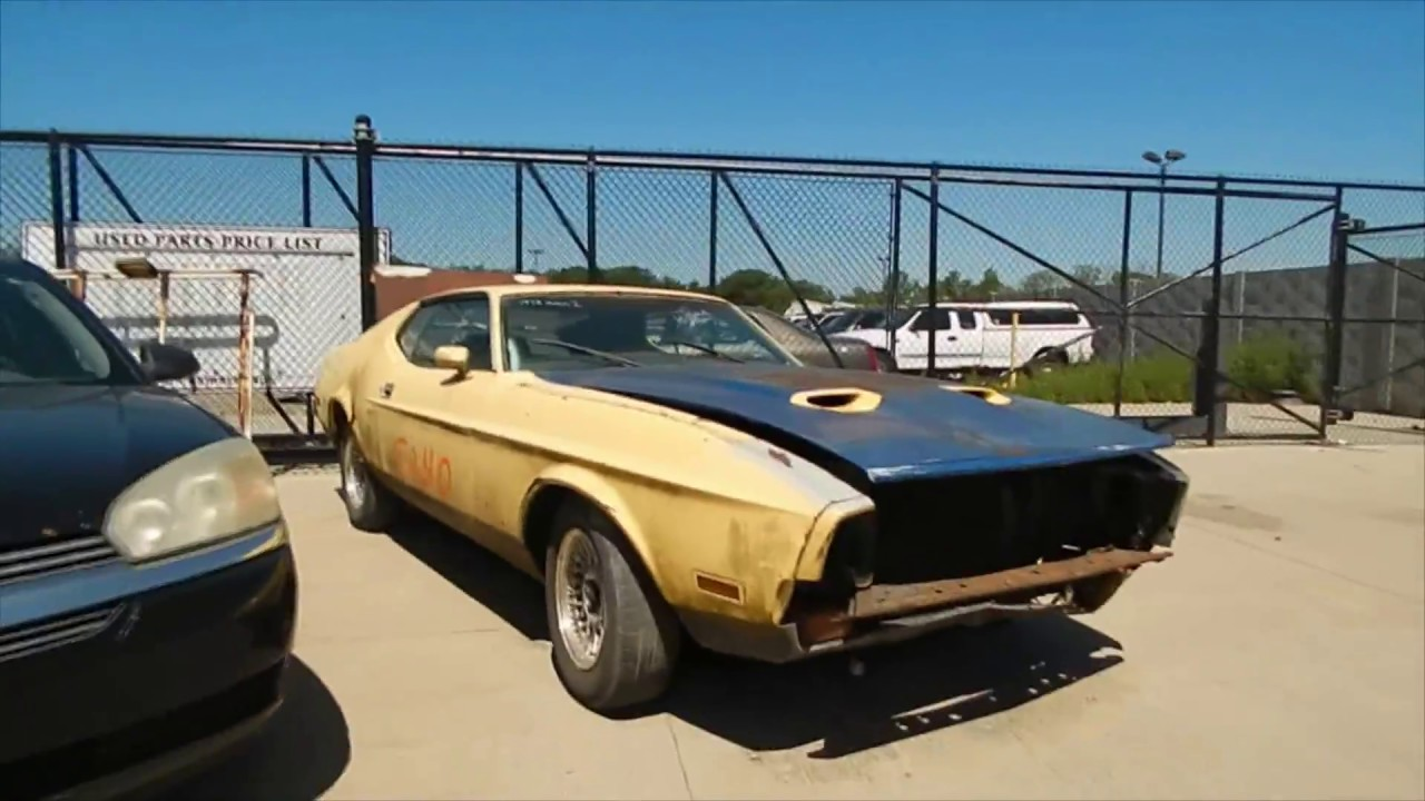 Junk yard finds 1972 ford mustang mach 1