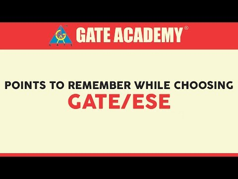 Points to remember while choosing GATE/ESE (with subtitles)