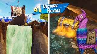 I FOUND A SECRET ENTRANCE TO THE WATERFALL!!! NOR DID THE NINJA BELIEVE... FORTNITE
