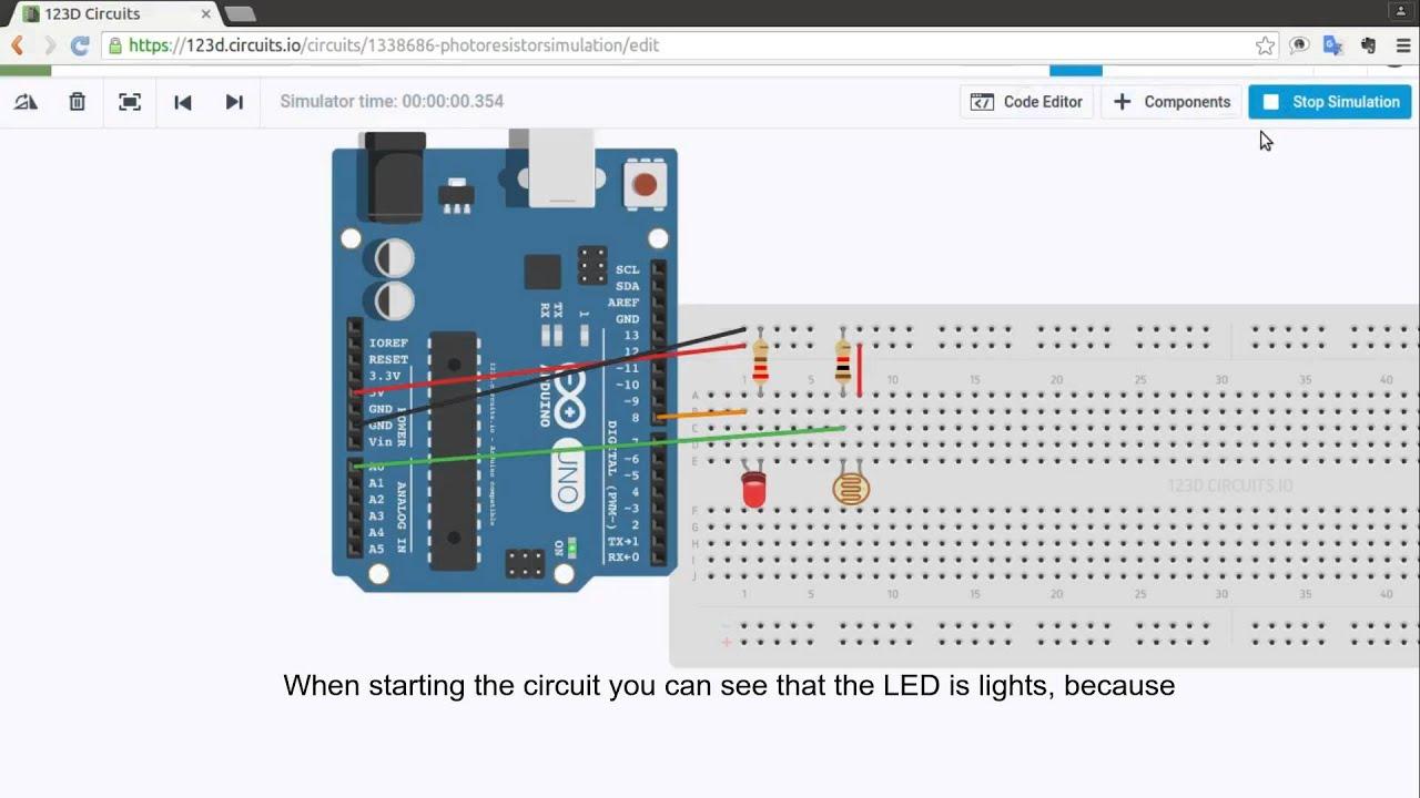 Photoresistor simulation circuit - YouTube