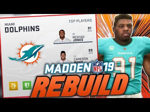Miami Dolphins Rebuild   Madden 19 Franchise Rebuild   Top Prospect Skips Combine!
