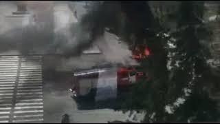 В Абакане взорвался грузовой автомобиль