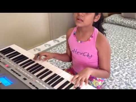 Anusha with Sun Sathiya from ABCD2 on keyboards