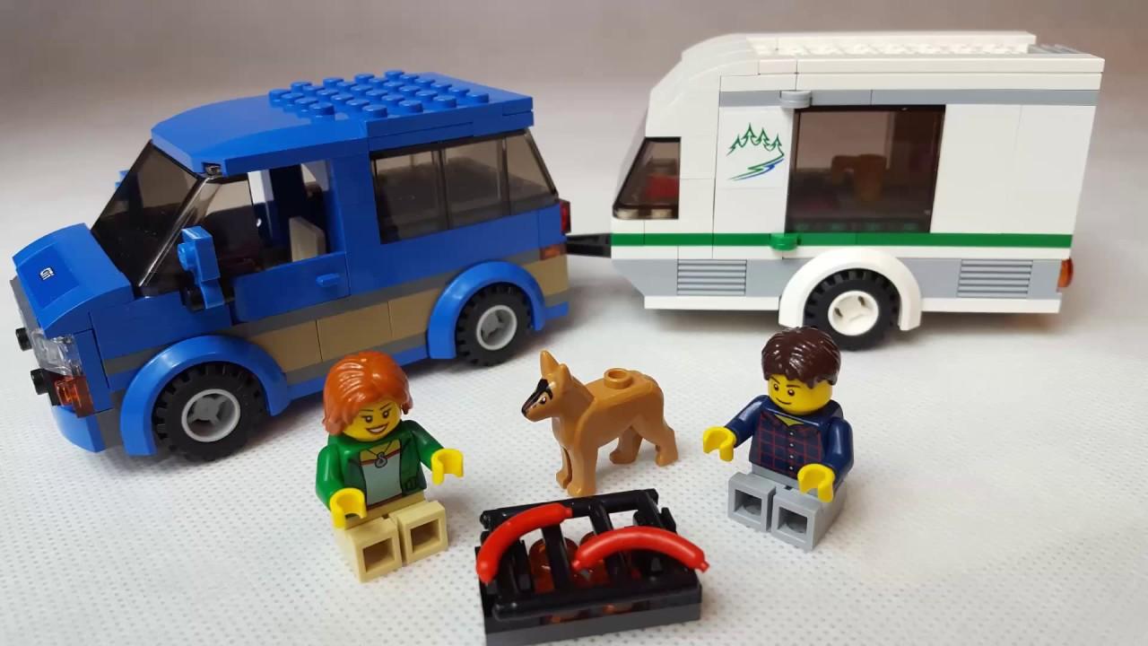 Lego City 60117 Samochod Z Przyczepą Kampingową Van Caravan Car