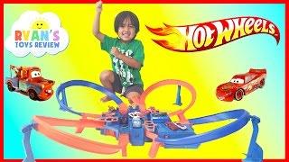 Hot Wheels Criss Cross Crash Track Motorized Toys Cars for Kids