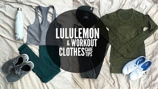 Lululemon & Workout Clothing Care Tips | Keep Your Workout Clothes Looking Brand New
