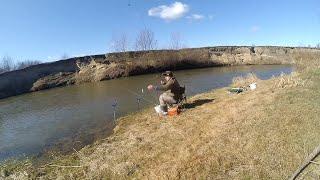 Ловля на Фидер 2020. Фидер на малой реке весной . Рибалка 2020