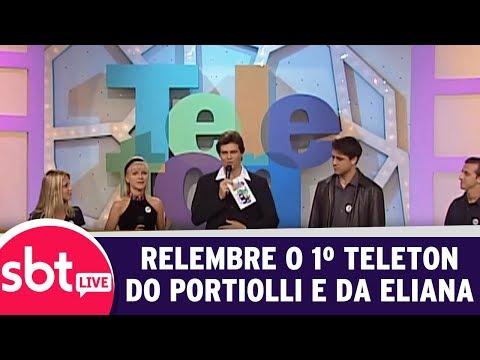 SBT Live Com Teleton+ - Relembre O Primeiro Teleton Do Portiolli E Da Eliana | (09/10/17)
