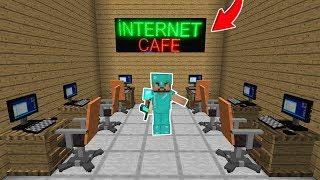 ZENGİN ŞEHRE İNTERNET CAFE YAPTIRIYOR! 😱 - Minecraft