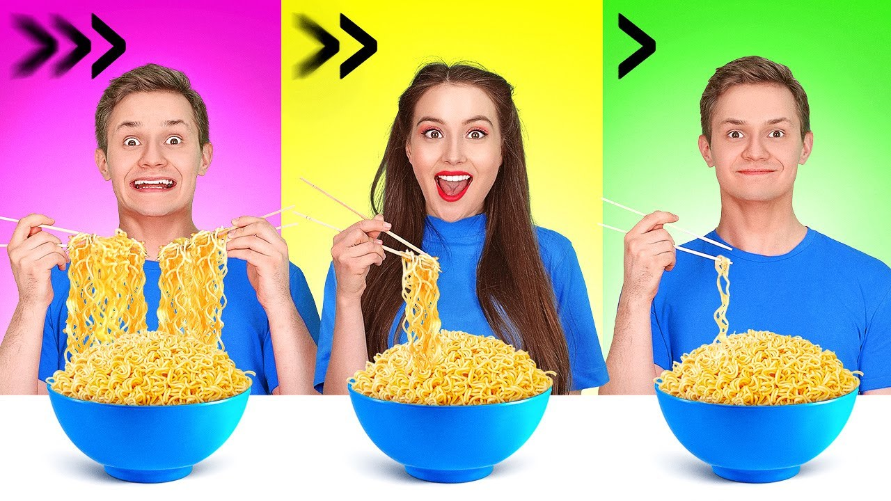 FAST, MEDIUM OR SLOW FOOD CHALLENGE || Try To Eat In 1 Second! Fastest Speed Eating By 123 GO! FOOD