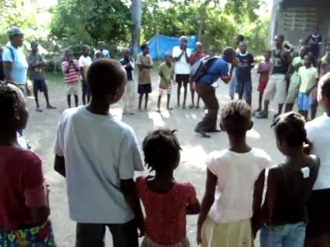 Call and response game in Haiti