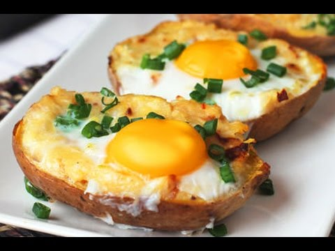 Twice Baked Potato with Egg on Top - YouRepeat