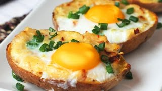 Twice Baked Potato with Egg on Top