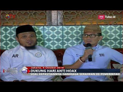 Sandiaga Uno Dukung Usulan Hari Anti Hoaks Pasca Pengakuan Ratna Sarumpaet - BIM 04/10