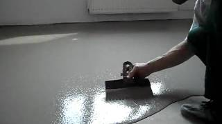 Наливные полы видео. self-leveling floor in Russian