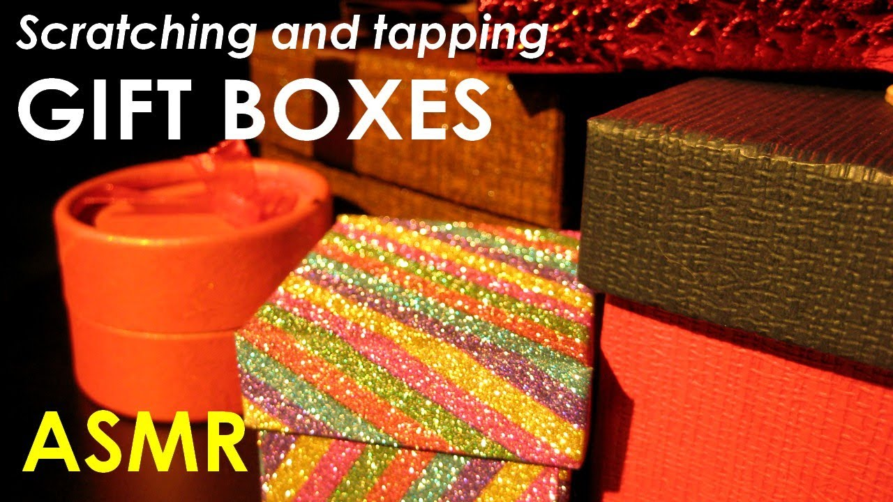 ASMR Scratching and tapping gift boxes (NO TALKING)