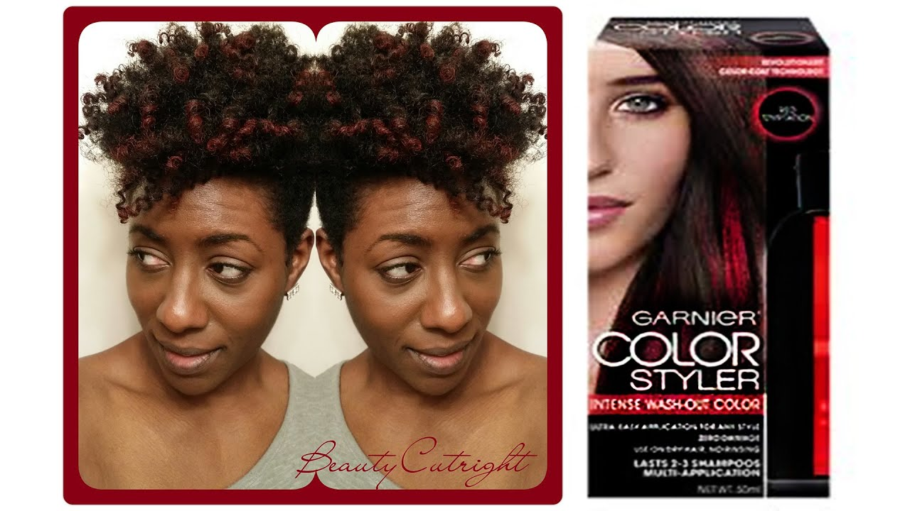 Natural hair red highlights with garnier color styler youtube natural hair red highlights with garnier color styler pmusecretfo Image collections