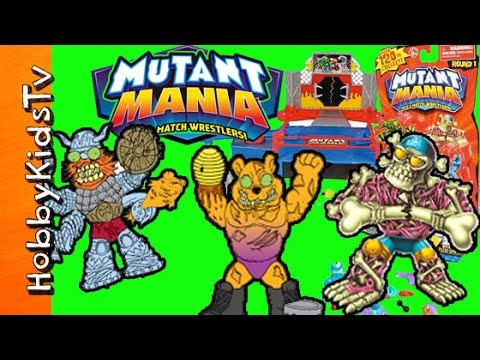 Mutant Mania Rampage Arena Round 1 Figures Domo Blind Box Toy Review by HobbyKidsTV