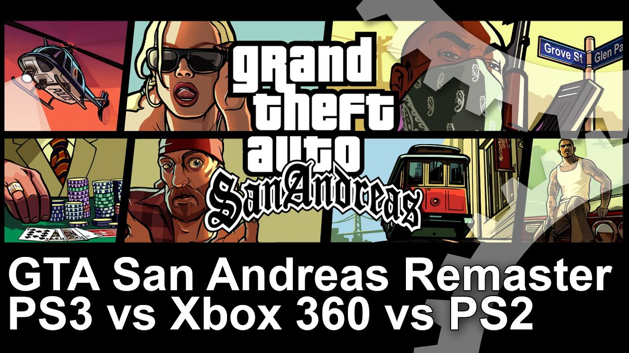 Gta San Andreas Remaster Ps Vs Xbox  Vs Original Ps Frame Rate Test Youtube