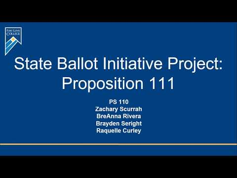 Thumbnail for Explaining the issues: Proposition 111