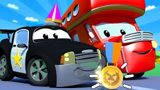 The Parade and the plane truck !  Carl the Super Truck - Car City ! Cars and Trucks Cartoon for kids