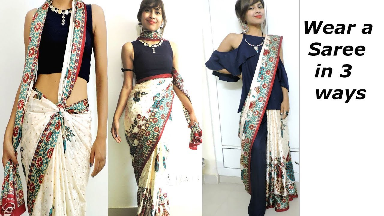How to Wear/Drape/Style a Saree in Different ways for Weddings ... for Drapes Clothes  545xkb