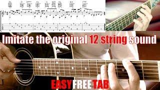 A7X SO FAR AWAY interlude Free guitar tabs imitating 12 string