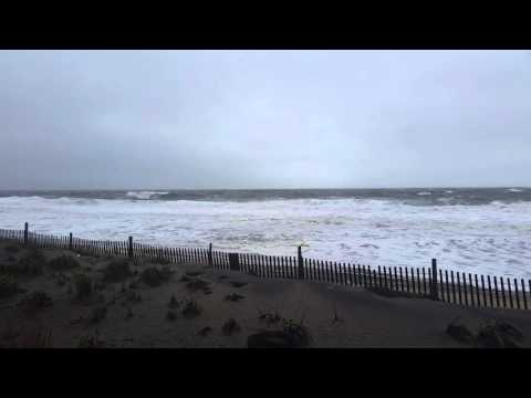 Large Waves At Rehoboth Beach From Hurricane