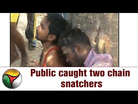 Public caught two chain snatchers at Salem-Bengaluru highway