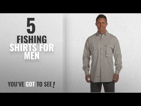 Top 10 Fishing Shirts For Men [2018]: Hook & Tackle Mens Gulf Stream Long-Sleeve Fishing Shirt