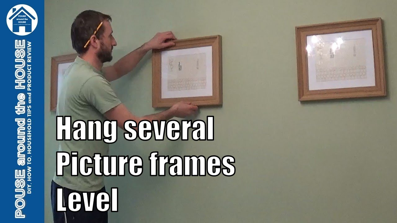 How to hang several picture frames level. Hanging picture frames for ...