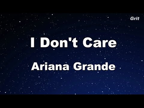 I Don't Care - Ariana Grande Karaoke 【No Guide Melody】 Instrumental