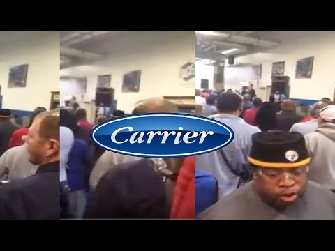 Worker Screams F%ck You At Announcement By Carrier To Ship Jobs To Mexico