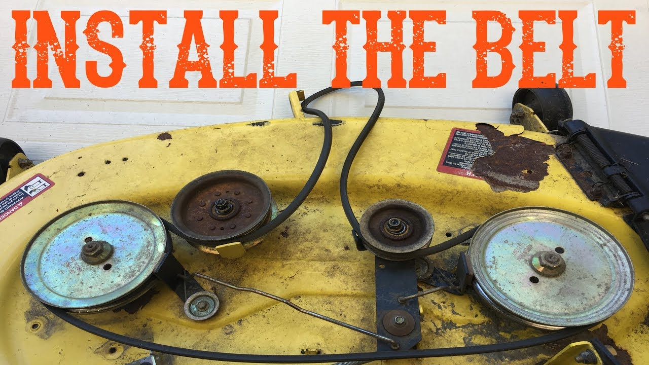 How Do I Install a Belt on My Riding Mower
