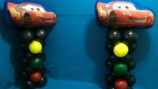 Cars Balloon Columns! Lightning McQueen