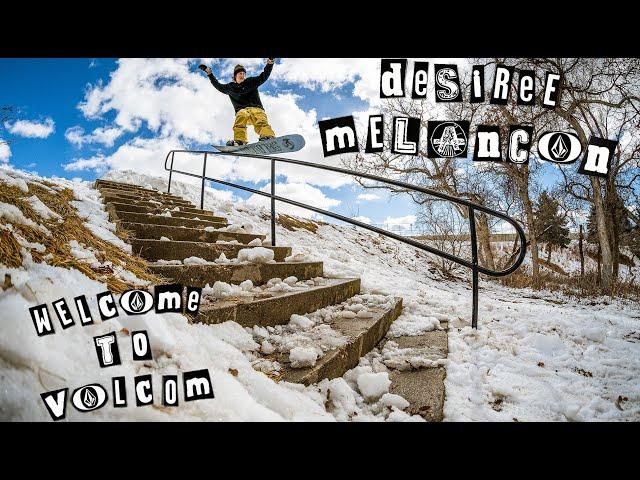 Welcoming Desiree Melancon to the Volcom Snow Team