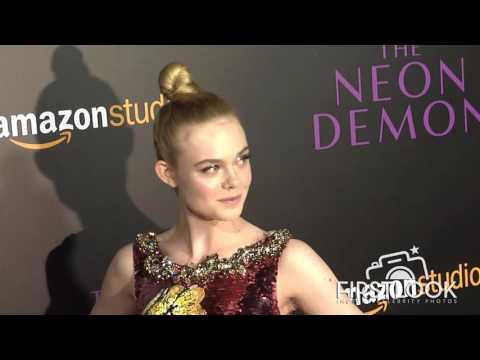 Elle Fanning at The Neon Demon LA premiere